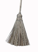 grass brooms wooden handle